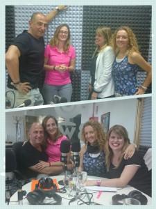 Nuestros presentadores con Delfina Mieville y Ruth González Ousset en el estudio de Radio3w