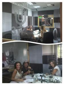 Ana Sierra, Luis Duro y Delfina Mieville en el estudio de Radio3w