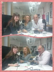 Ana Lombardía con nuestros presentadores Ana Sierra y Luis Duro pasándoselo de rechupete ;-)